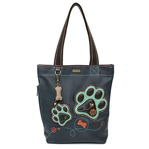 (Chala Handbag Everyday Tote (Pawprint Dark Navy))