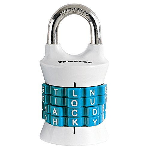 Master Lock 1535DWD Set Your Own Word Combination Padlock, 1 Pack, Assorted Colors