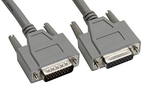 Amphenol CS-DSDHD26MF0-025 26-Pin HD26 Deluxe D-Sub Cable, Shielded, Male/Female, 25', Gray