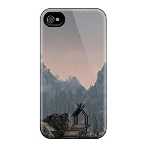 4/4s Scratch-proof Protection Cases Covers For Iphone/ Hot Skyrim The Whiterun Mountains Phone Cases
