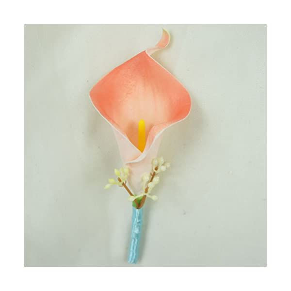 Lily-Garden-Artificial-Flower-Calla-Lily-Boutonniere-Corsage-with-Ribbon