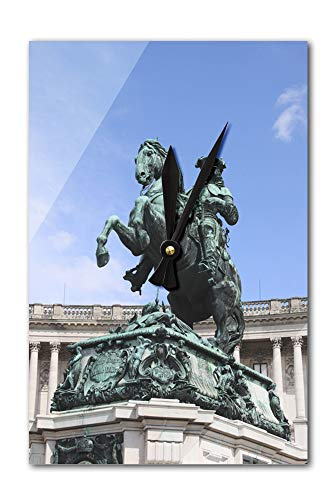 Lantern Press Vienna, Austria - Prince Eugene Statue - Photography A-93847 (Acrylic Wall Clock)