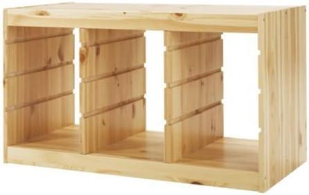 Estantería de madera de pino marco IKEA TROFAST; (94 cm x 52 cm)