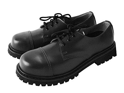 Rangers Toe Boots Cap Steel Boots Knightsbridge Size Hole 3 7 Black w8qYE1