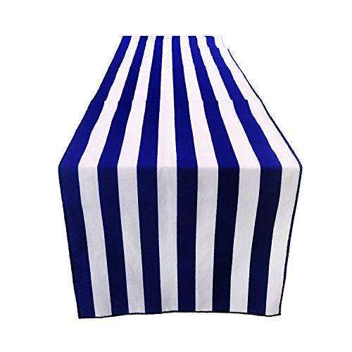 ArtOFabric Decorative Cotton Navy Blue & White Stripped Table Runner Wedding Party Decor 12