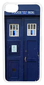 CellPowerCasesTM Doctor Who Tardis Case for iPhone 5c (White Case) WANGJING JINDA