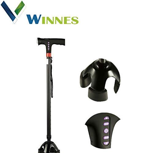 Winnes Four Foot Crutch Multifunzione in alluminio con illuminazione chiara Canna da trekking a bastone retrattile Regolazione escursione DA10161 Changsha Yunang Network Technology Co. Ltd.