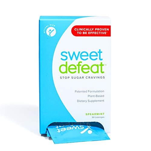 (Sweet Defeat - Stop Sugar Cravings in Seconds - Sugar Blocker & Craving Suppressant Lozenges with Gymnema Extract - Curb Snacking & Binge Eating - Suppress & Control Appetite for Desserts, 30 Count)