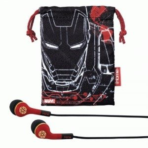 Iron Man Earbuds wTravel Pouch product image
