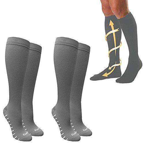 2 Pairs Compression Socks Sports Men Women Calf Shin Leg Running Fitness Cross
