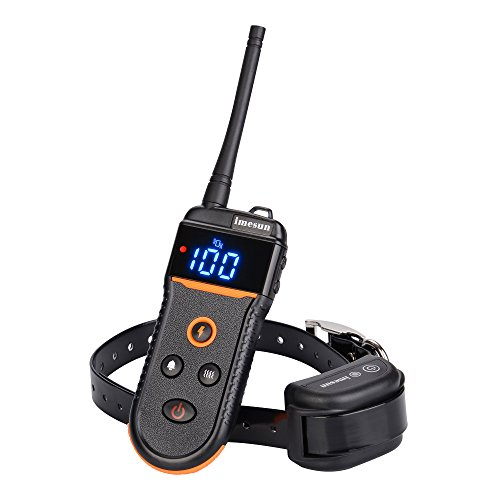 Imesun TRAINING888 Dog Training Collar Rechargeable and Waterproof - 330 Yard Remote Dog Shock Collar with Beep Tone, Vibration and Shock Adjustable Electronic Electric Collar for One Dog 10-100 (Soko Wall Cover)