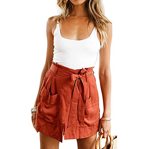 Onefa Vest Shorts Suit, Women Summer 2 Pieces Outfits Suit Spaghetti Tank Crop Strappy Top+Shorts Set Casual,Party,Daily