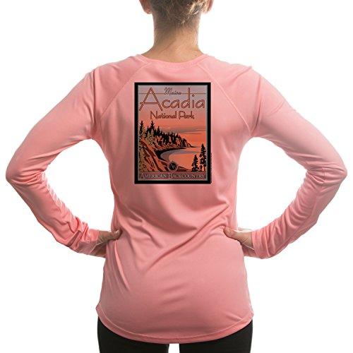 - Acadia National Park Women's UPF 50+ Long Sleeve T-shirt X-Large Pretty Pink