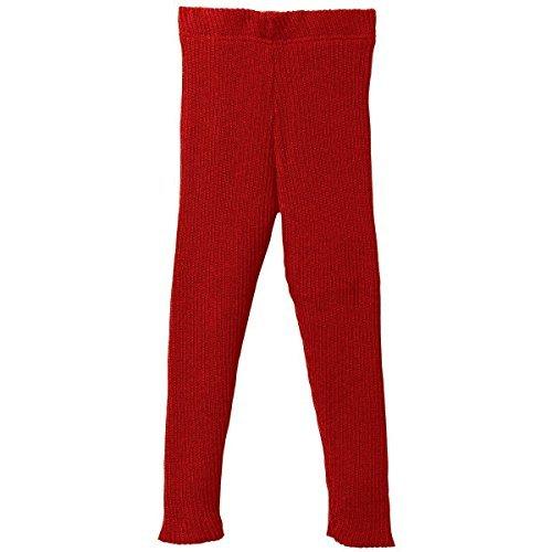 Disana 100% Organic Merino Wool Knitted Leggings Made in Germany (6-8 Years, Red)