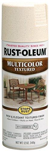 Rust-Oleum 239121 Multi-Color Textured Spray Paint, 12 oz, Caribbean Sand