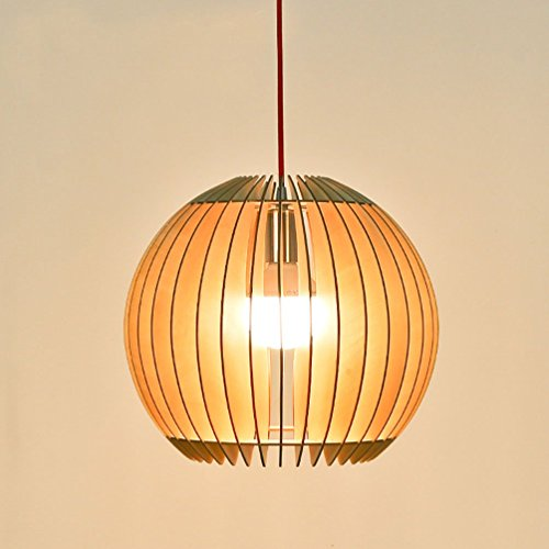 Aiwen Creative Technology Simplicity Wood Coconuts Chandelier ( Not Include Light Source ) Log - Chandelier Circle Wood