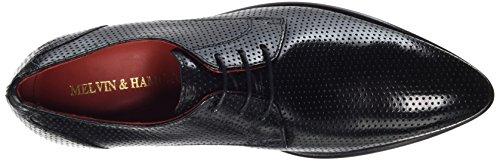 Black Hombre amp;Hamilton Zapatos 1 Negro Toni Classic Derby Cordones de Blk Perfo Melvin Ls AqwgCPw