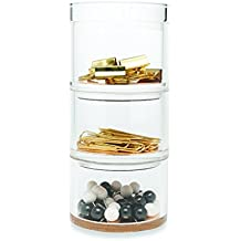 Kate Spade New York Acrylic Stackable Desk Organizer Set, Strike Gold