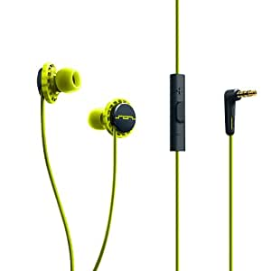 SOL REPUBLIC 1131-40 Relays 3-Button In-Ear Headphones - Lemon Lime