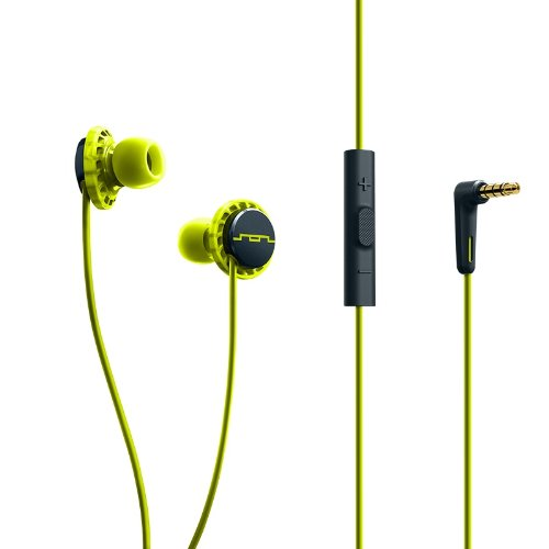 SOL REPUBLIC 1131-40 Relays 3-Button In-Ear Headphones - Lemon Lime