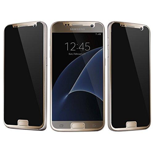 Josi Minea [ Samsung Galaxy S7 ] Privacy Tempered Glass Screen Protector Anti Spy Ballistic LCD Screen Cover Premium HD Shield Guard for Samsung Galaxy S7 / SVII