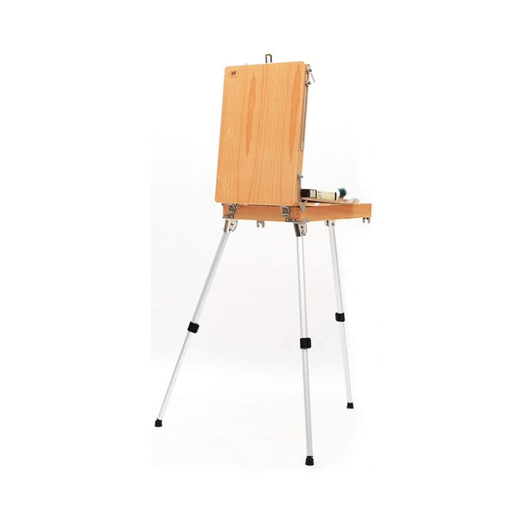 携帯用の木製の絵箱、収納が簡単で、大人の子供に適した、実行することができます QYSZYG   B07S1L2KZX