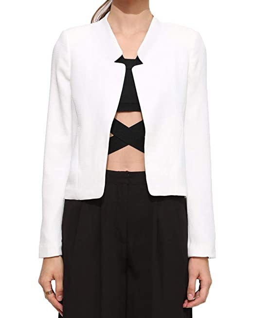 low priced a80c6 9be5b Donna Autunno Casuale Slim Fit Maniche Lunghe Blazer Lavoro ...