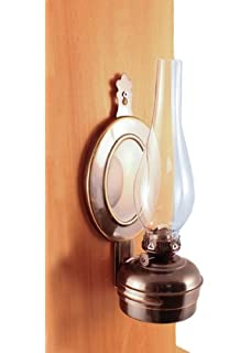 Amazon.com: Hurricane Oil Lamps - Antique Brass Mini XL Wall Lamp ...