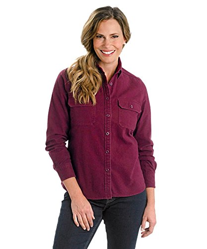 Expedition S/s Shirt - Woolrich Women's Expedition Chamois Shirt,Fig,US L