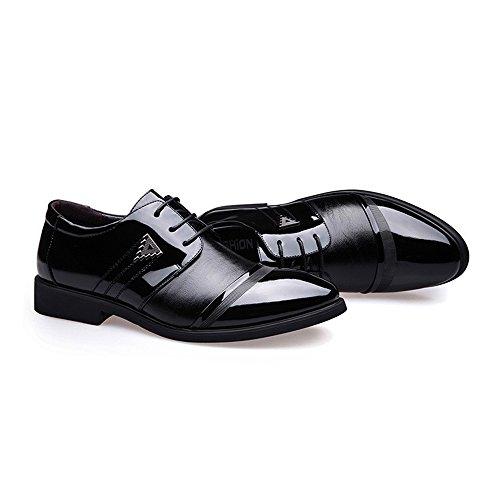 formali traspiranti lavoro Xiaojuan shoes PU EU Scarpe uomo Marrone interna Smooth in 38 pelle Fodera Stringate Uomo superiori Stringate Dimensione da da Color Pelle Scarpe Nero wqtvdrIt