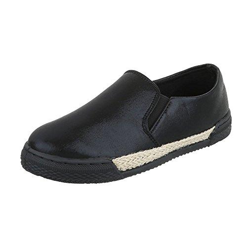 Ital-Design - Zapatillas de casa Mujer Schwarz 503-2