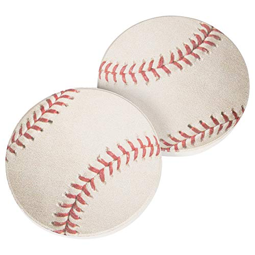 Baseball Game Sports 2.75 x 2.75 Absorbent Ceramic Car Coasters Pack of 2