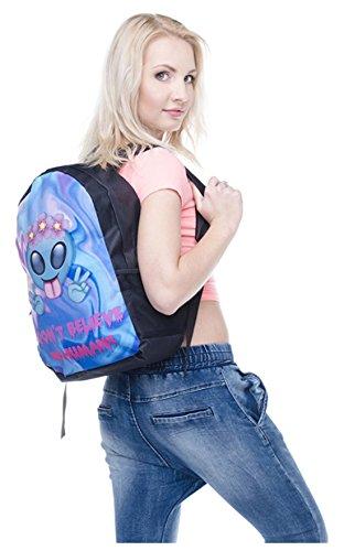 Kukubird Alien flor diseño Holo Pastel patrón delantero mochilas