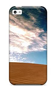 Hot Tpu Cover Case For Iphone/ 5c Case Cover Skin - Desolate Tract Sand Dune Blue Clouds Nature Other