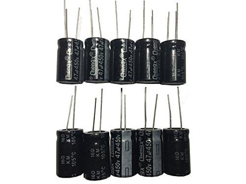 47uF 450V 16X25 +/-20% +105℃ 10 PCS Aluminum Electrolytic Capacitors 450v Electrolytic Capacitor