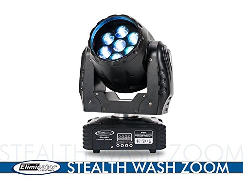 Eliminator Lighting Stealth Wash Zoom 7x12W LED Moving Head Light