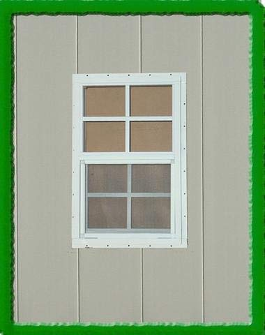 OUTDOOR PLAY AND STORAGE SHED Window 14x21- White- Flush by OUTDOOR PLAY AND STORAGE