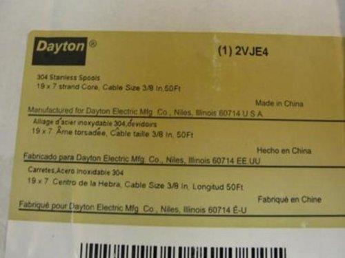 Dayton 2VJE4 Cable 3/8'' 50Ft
