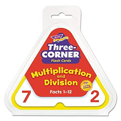 Multiplication/Division Three-Corner Flash Cards, 8 & Up, 48/Set: Office Products