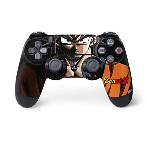 Skinit Decal Gaming Skin for PS4 Controller - Officially Licensed Dragon Ball Z Goku Portrait Design