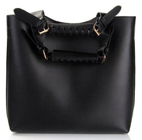 b60cfcfa6982 ANDI ROSE Women Retro PU Leather One Shoulder Designer Hobo Tote Clutch  Bags Handbags (Black) - Buy Online in Oman.