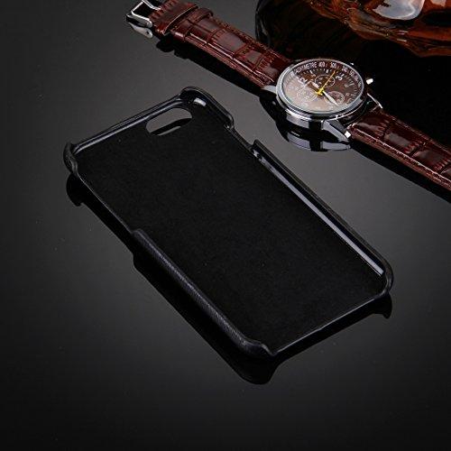 Phone Taschen & Schalen Für iPhone 6 / 6s, Öl Haut Textur Stickerei Leopard Muster PU Paste Haut PC Schutzhülle ( SKU : IP6G0536D )