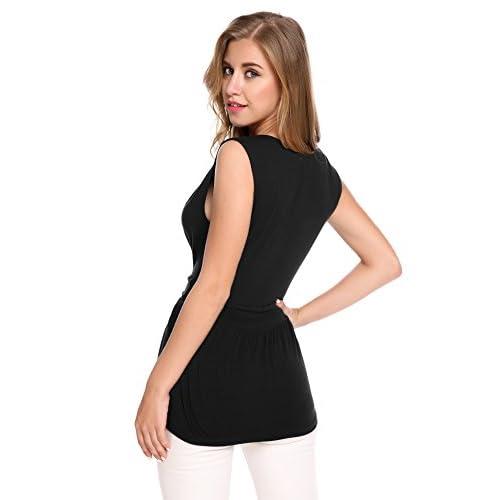 1506bc48edd5 Zeagoo Women s V Neck Sleeveless Sequin Splicing Tank Top Dress Vest  Blouses outlet