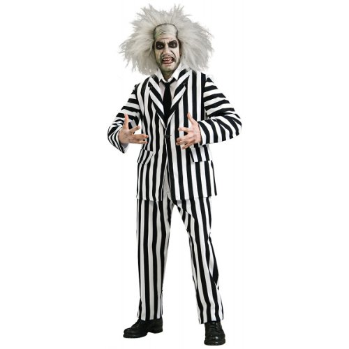 (Beetlejuice Grand Heritage Collection Deluxe Costume, Black/White,)