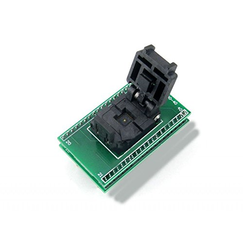 CQRobot Programmer Adapter Pitch 0.5mm, QFN40 to DIP40, Plastronics IC Test Socket and Programming Adapter for QFN40 MLF40 MLP40 Package. by CQRobot