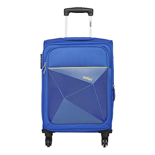 Safari Polyester 65 cms Blue Softsided Check-in Luggage (PRISMA654WBLU)-26 Inch