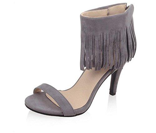 Jours été gommages 33 Romaines Grey fête Mesdames 41 Shopping Chaussures Sandales 39 Glands Les 8cm xie Tous FxnPwqSn