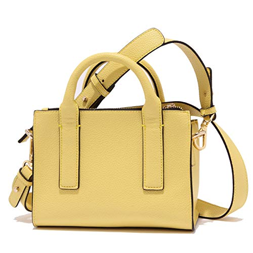 mini woman bag yellow Giallo 3332X mini borse donna leather borsa MARELLA eco FxaZ87R