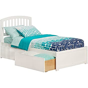 Amazon.com: Richmond Bed with Flat Panel Foot Board and 2 Urban Bed ...