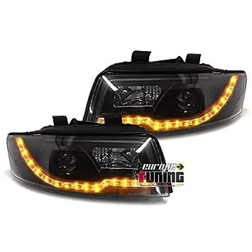 europetuning - 04372 - Luz Faros Avants negros Tubo Light Bar intermitentes LED A4 B6 8E: Amazon.es: Coche y moto